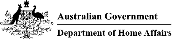Australian Government Department of Home Affairs logo