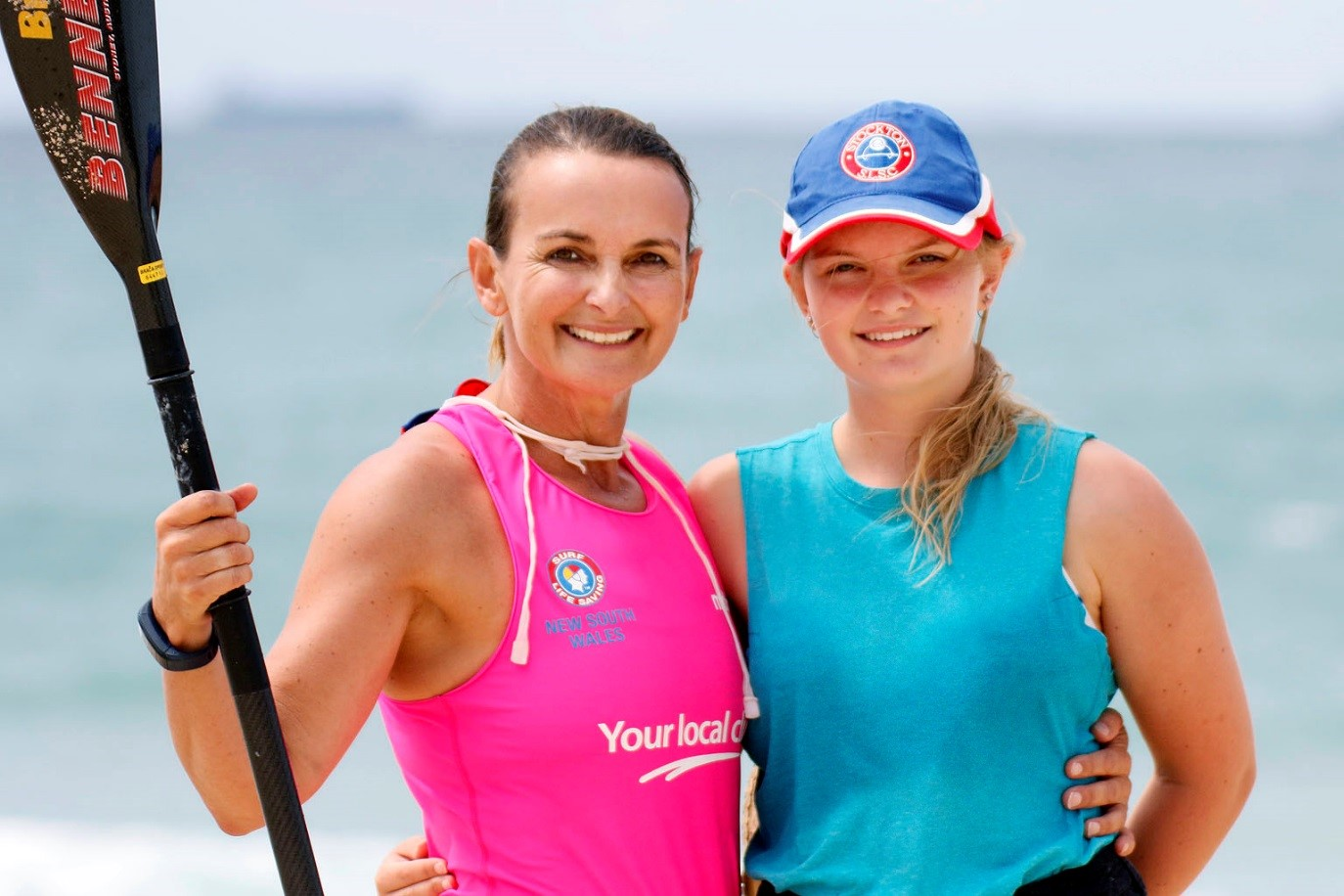Surf Life Saving NSW volunteer Willow Forsyth, with her daughter