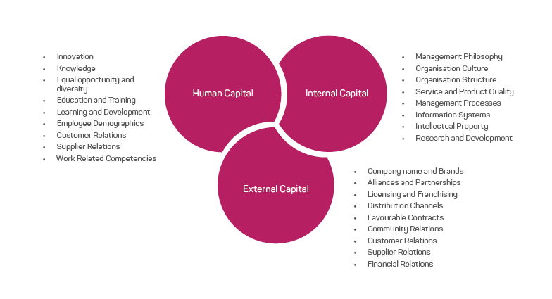 figure showing the tripartite model of intellectual capital