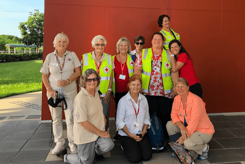 The Australian Red Cross volunteers supporting one of the Townsville Recovery Hubs in February 2019.
