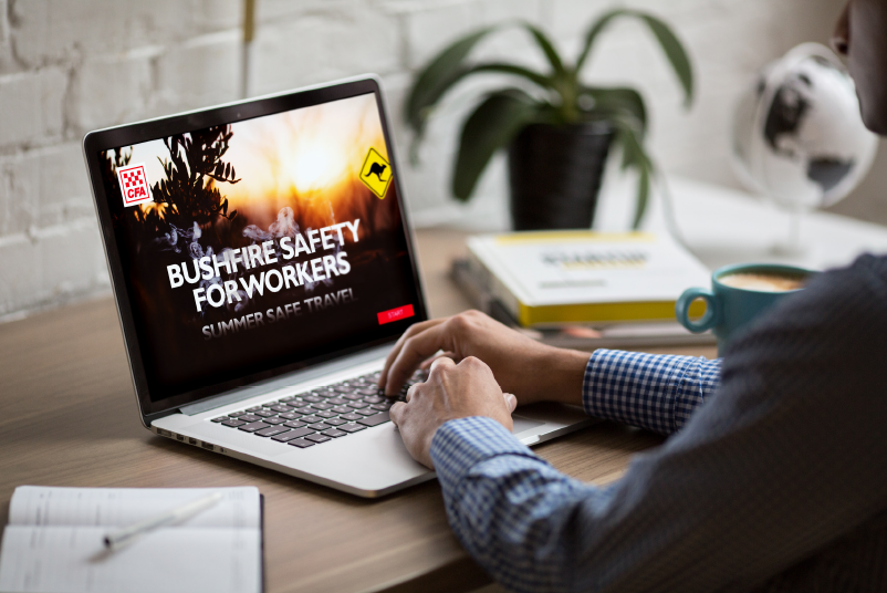The Country Fire Authority Bushfire Safety for Workers is meeting an increased demand for online training. Source: Country Fire Authority Learning Hub