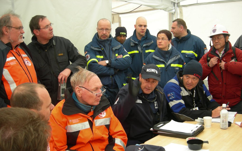 Assistant Commissioner Rob McNeil during Australia's SAR deployment to Fukushima. In highly novel situations, decision-makers need to combine divergent and convergent thinking to achieve the best outcomes. Image: courtesy Rob McNeil