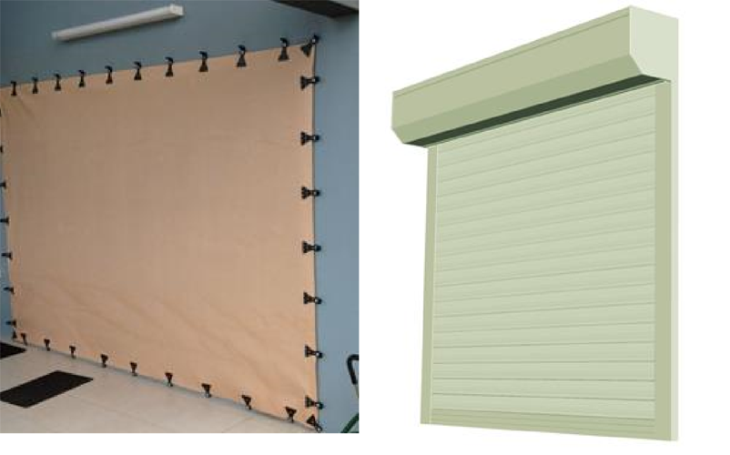 Examples of commercial shutters for window protection. Image: Smith, Henderson and Ginger 2015