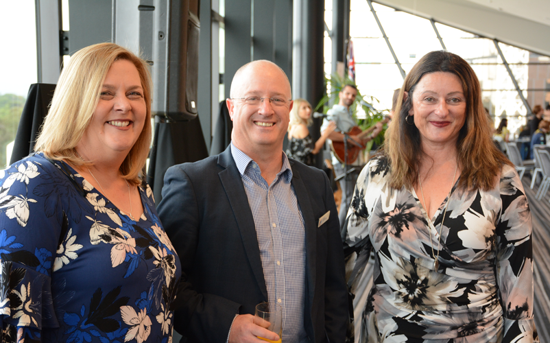 L-R: Martha Martin (Hume City Council), Steve Cameron (Emergency Management Victoria) and Tina Georgiev (Hume City Council). Image: Australian Institute for Disaster Resilience