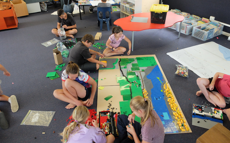 LEGO participatory mapping with children in New Zealand. Image: Loïc Le Dé