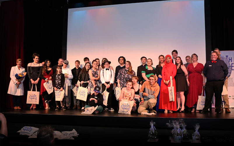 Participants received a standing ovation at the Red Carpet event. Image: Latrobe Youth Space